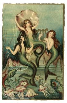 Syreny i muszle Sofia Chiostri Mermaids Postcard