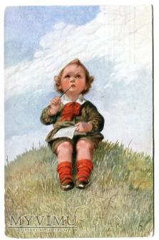 dziewczynka z listem c. 1925 Wally Fiałkowska ?