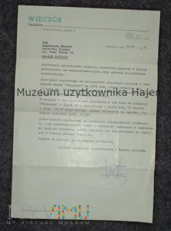 """Gazeta """"Wieczór"""" - nagroda dla aktorów"""