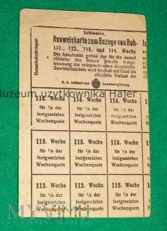Ausweiskarte Bezüge Schlesien - kartka