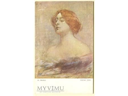 Franciszek Żmurko portret żony kobieta malarstwo