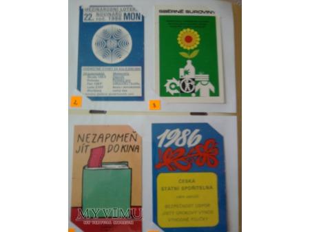 Kalendarzyki 1986