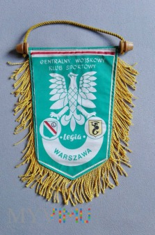 Proporzec meczowy, Legia Warszawa, lata 80-te