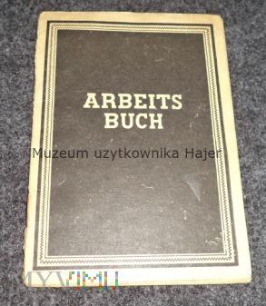 ARBEITSBUCH - książka pracy DDR