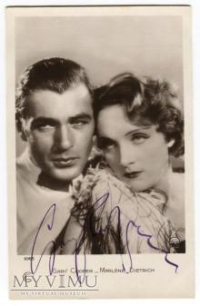 Marlene Dietrich Gary Cooper Autograph 1065