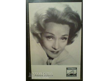 Marlene Dietrich Electrola reklamowe zdjęcie
