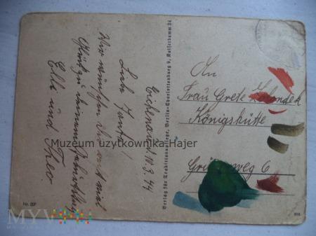 Martwa natura róże - kartka pocztowa