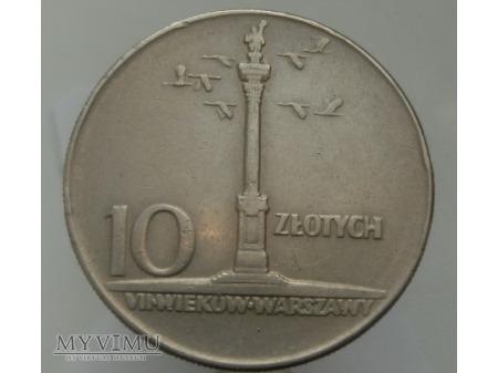 VII Wieków Warszawy, 10 zł, 1965 rok.