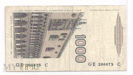 Włochy.14.Aw.1000 lire.1982.P-109b