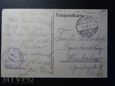 Kartka Pocztowa - z lat I wojny