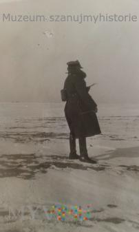 Duże zdjęcie oficer zima w II RP