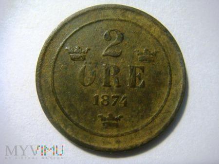 Szwecja 2 Ore 1874r