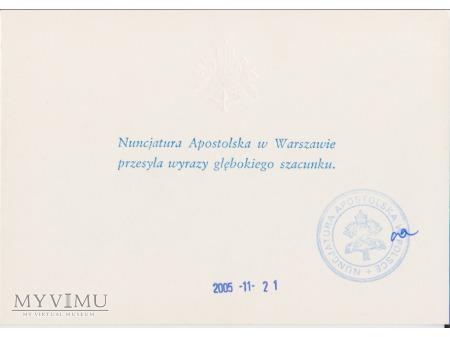 List z Nuncjatury Apostolskiej w Polsce