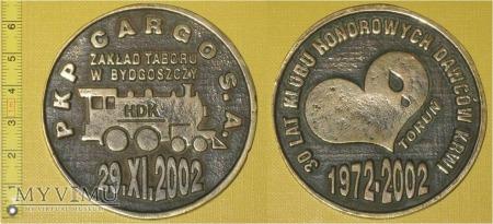 Medal kolejowy - społeczny HDK z ZT w Bydgoszczy