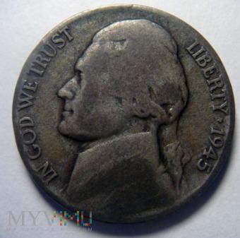 5 centów 1945 P Jefferson , USA