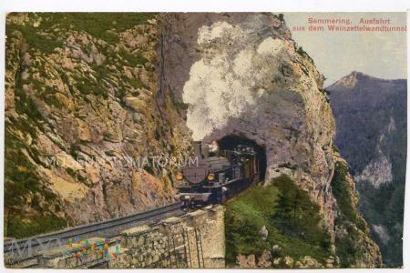 Semmering - Wyjazd z tunelu Weinzettelwand 1915