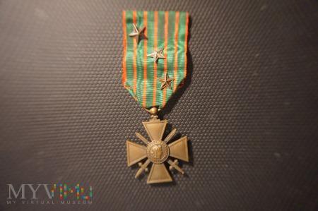 Francuski Krzyż Wojenny 1914 - 1916 z Gwiazdami