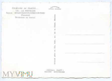 Bretagne - folklor - Finistere - lata 50-te