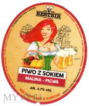 Piwo z sokiem Malina-Pigwa