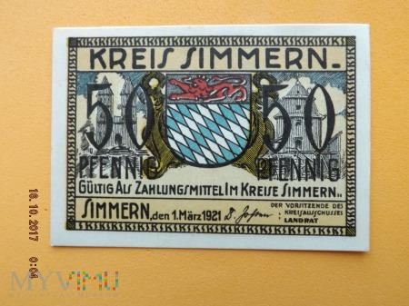 Notgeld - Simmern - 50 Pfennig 1921r.
