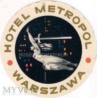 Duże zdjęcie Nalepka hotelowa - Warszawa - Hotel Metropol