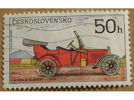 Laurin & Klement - 1914, znaczek