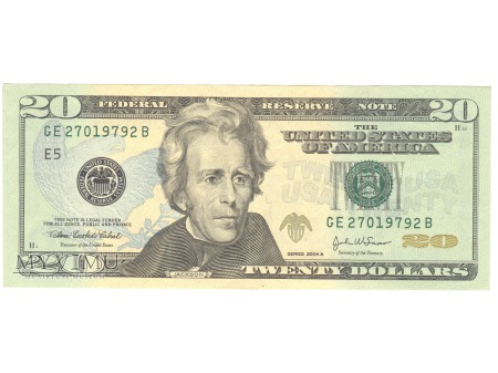 20 USD 2004 FEDERAL RESERVE NOTE