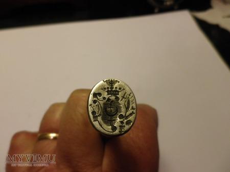Herb Trzaska- pieczęć ,tłok pieczętny,srebro nr 2