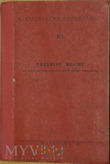 1970 - R 1 Przepisy ruchu na kolejach normalnotor.
