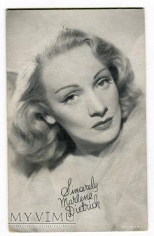 Marlene Dietrich Arcade Card Karta c. 1940-te