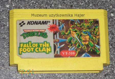 TURTLES FALL OF THE FOOT CLAN KONAMI Kartridż