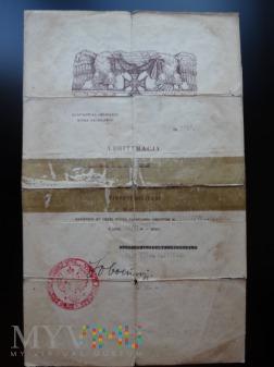 Legitymacja-Nadanie Virtuti Militari - RR