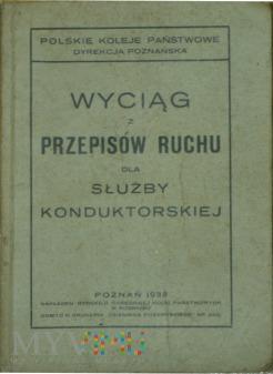 1933 Wyciąg z Przepisów ruchu dla służby kondukt.