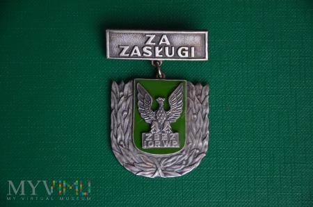 """Odznaka honorowa """"Za zasługi dla ZBŹZ i OR WP"""""""
