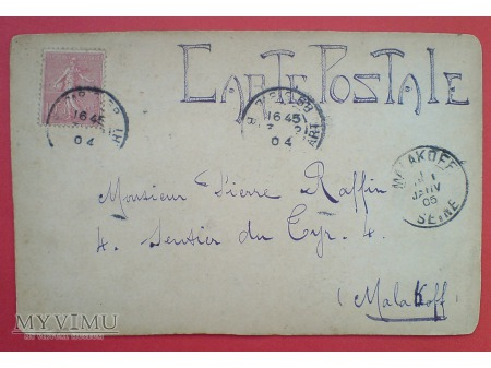 1905 Pocztówka Ręcznie Malowana Raphaël Secesja