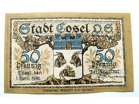 Koźle- Pieniądz zastępczy 50 Pf