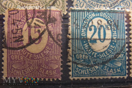 znaczki z plebiscytu na Slasku