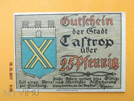 Notgeld - Castrop - 25 Pfennig 1921r.