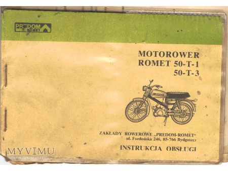 Instrukcja Motorower Romet.