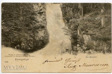 """Duże zdjęcie Karkonosze - Hainfall - wodospad """"Podgórnej"""" 1898"""