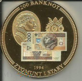 Banknot 200 Złotych Zygmunt I Stary