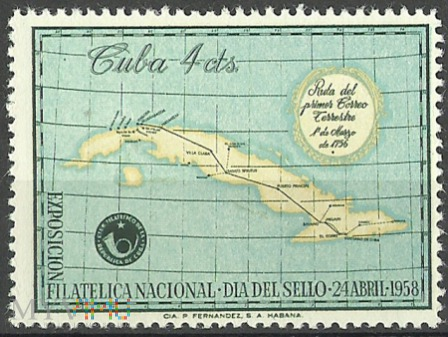 La Primera Ruta Postal en Cuba.