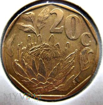 20 centów 1995 r. Afryka Południowa