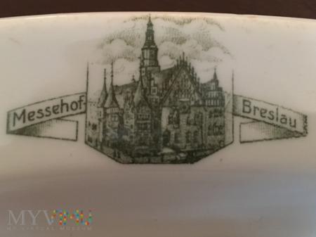 Talerz z restauracji Messehof w Breslau (Wrocław)