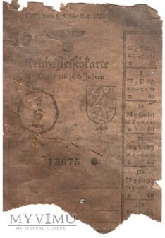 Reichsfleischkarte 60 1944