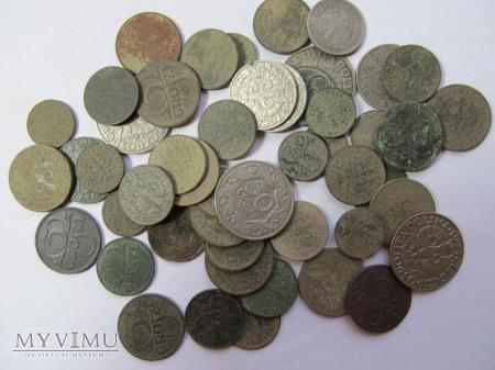 Zestaw groszy II RP lata 1923-39. 50 sztuk