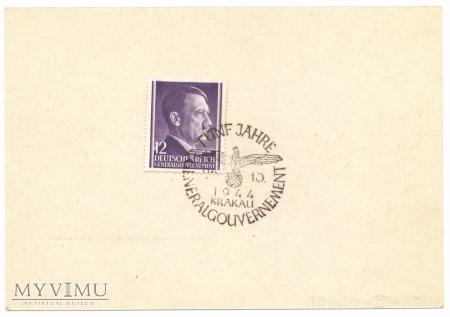 Kasownik nr 38. Fünf Jahre GG 26. 10. 1944 Krakau