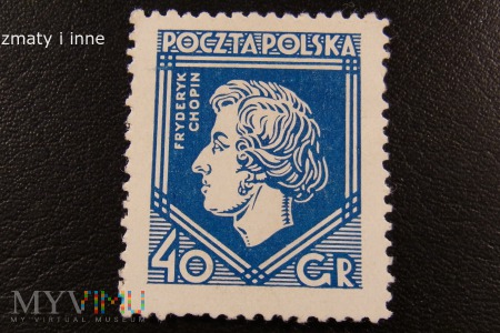 Fryderyk Chopin na znaczeku przedwojennym