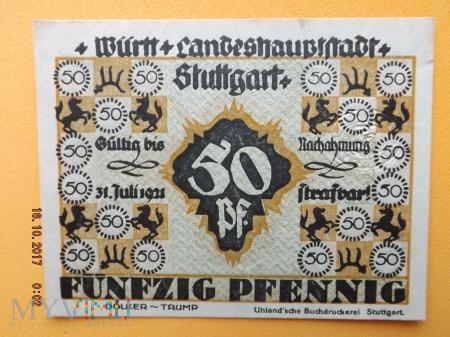 Notgeld - Stuttgart - 50 Pfennig.