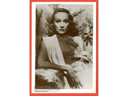 Marlene Dietrich Marlena Aktorka Pocztówka